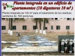 planta integrada en un edificio de apartamentos 10 digestores 10 m 3