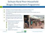 sichuan rural poor household biogas development programme