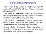 brief presentation of the chanting