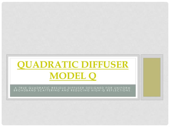 quadratic diffuser model q n.