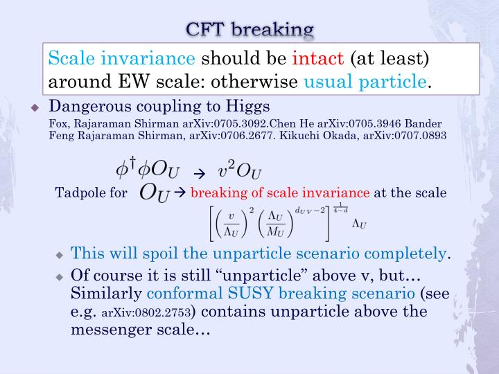 CFT breaking