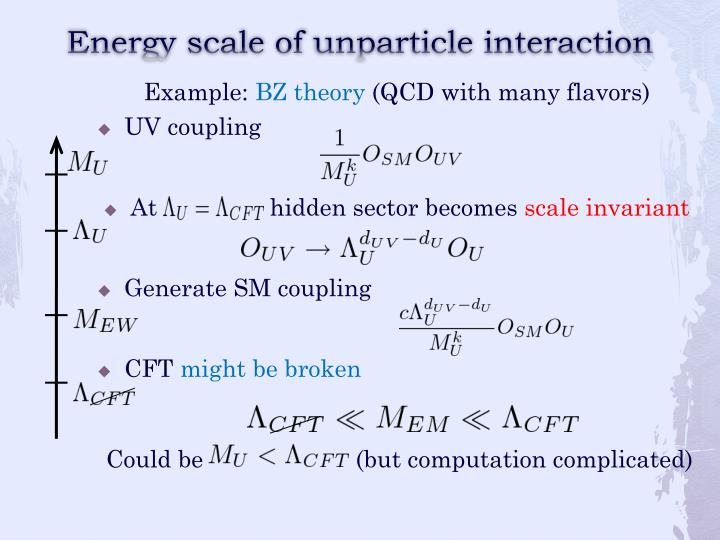 Energy scale of