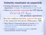 unitarity constraint on unparticle