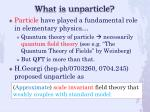 what is unparticle1
