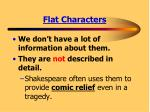 flat characters