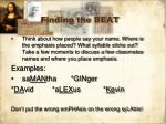 finding the beat