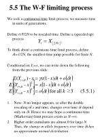 5 5 the w f limiting process