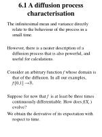 6 1 a diffusion process characterisation