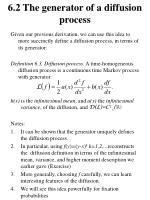 6 2 the generator of a diffusion process