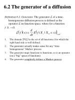 6 2 the generator of a diffusion