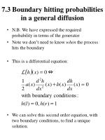 7 3 boundary hitting probabilities in a general diffusion1