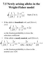 7 5 newly arising alleles in the wright fisher model1