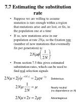 7 7 estimating the substitution rate