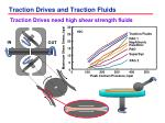 traction drives and traction fluids