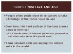 soils from lava and ash