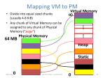 mapping vm to pm