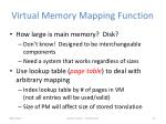 virtual memory mapping function