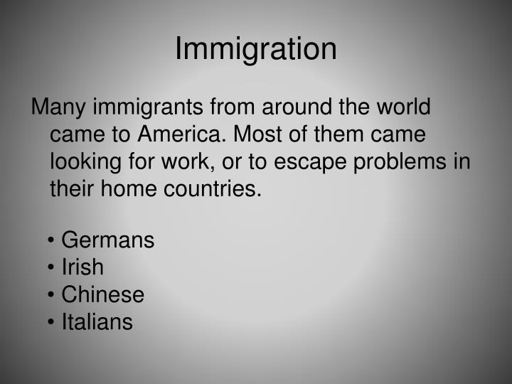 compare and contrast german and irish immigration to america Overview: this lesson traces immigration to the united states through the 1850s particular attention is paid to the initial european immigration, the bringing of black slaves from africa, irish immigration and nativism against the irish, and the mexican-american experience and the treaty of guadalupe hildalgo.