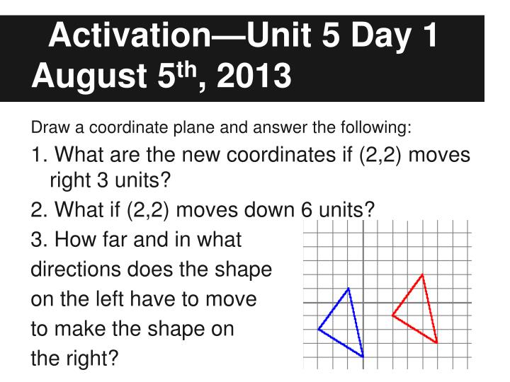 activation unit 5 day 1 august 5 th 2013 n.