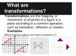 what are transformations