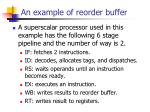 an example of reorder buffer