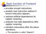 basic function of frontend