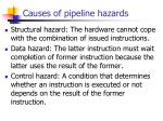 causes of pipeline hazards