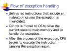 flow of exception handling