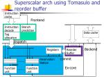 superscalar arch using tomasulo and reorder buffer