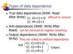 types of data dependence