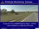 sinkhole monitoring kansas