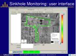 sinkhole monitoring user interface