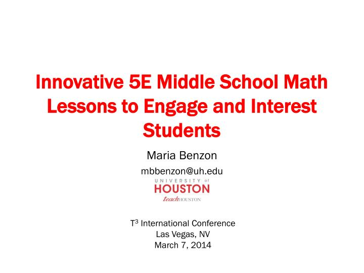 innovative 5e middle school math lessons to engage and interest students n.