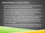 menstrual cycle cont
