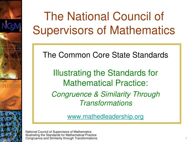 the national council of supervisors of mathematics n.