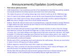 announcements updates continued1