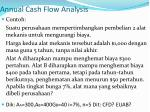 annual cash flow analysis1
