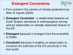 emergent constraints