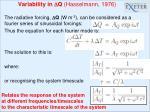variability in d q hasselmann 1976
