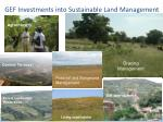 gef investments into sustainable land management