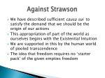 against strawson