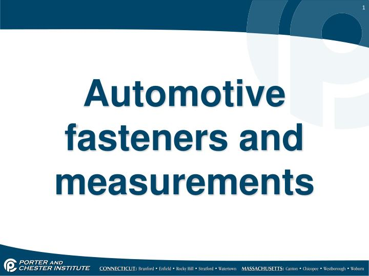 automotive fasteners and measurements n.