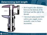 determining bolt length