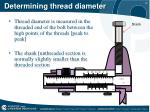 determining thread diameter