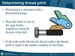 determining thread pitch