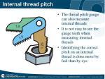 internal thread pitch