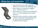 offset box end wrenches