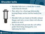 shoulder bolts