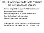 other government and private programs are increasing food security