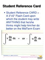 student reference card